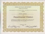 RPD Departmental Citation 5 88